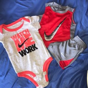 Nike short outfit and onesie